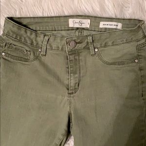 Jessica Simpson Olive Green Jeans